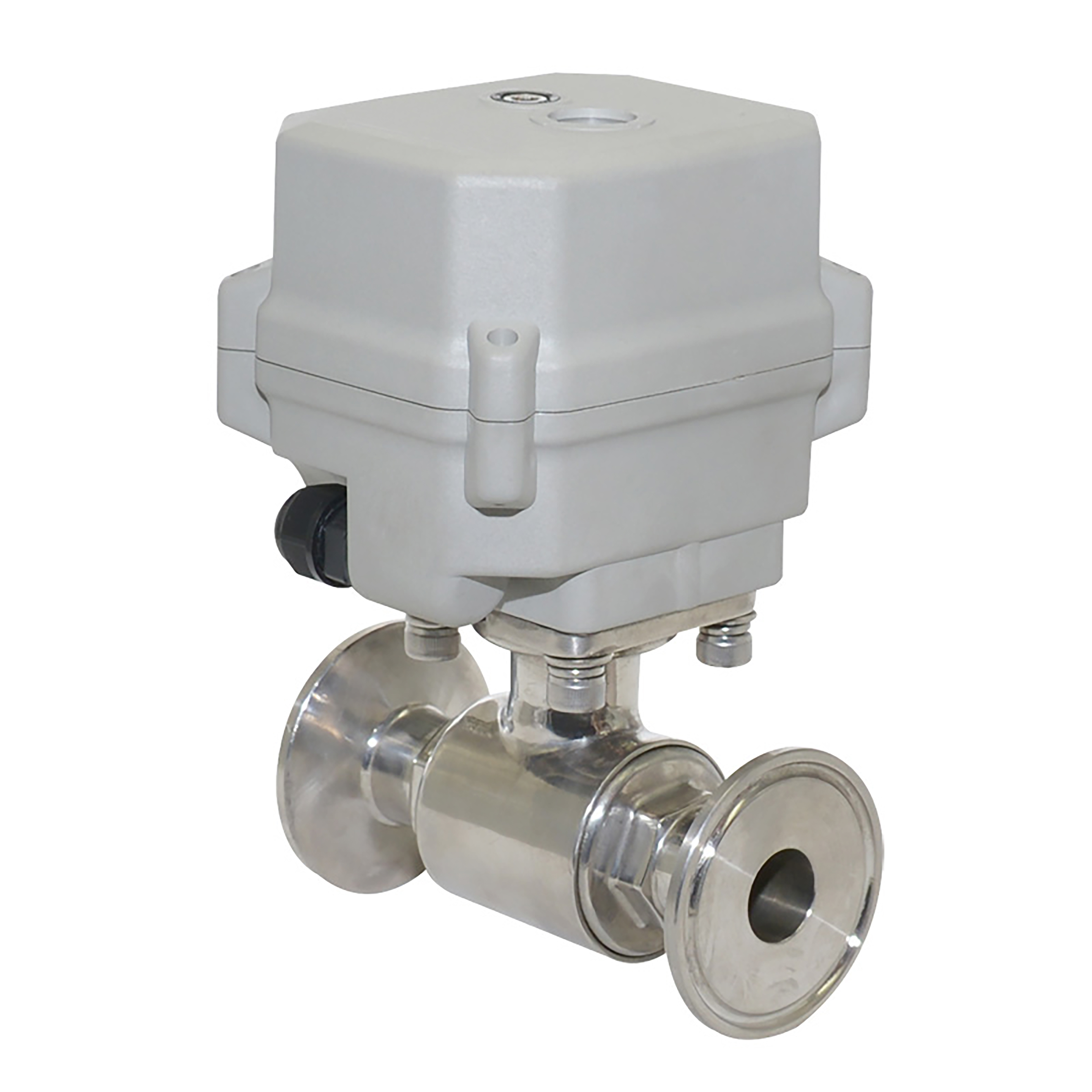 2-Way Stainless Steel Tri-Clamp Ball Valve With Electric Actuator
